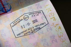 イスラエル入国スタンプパスポート