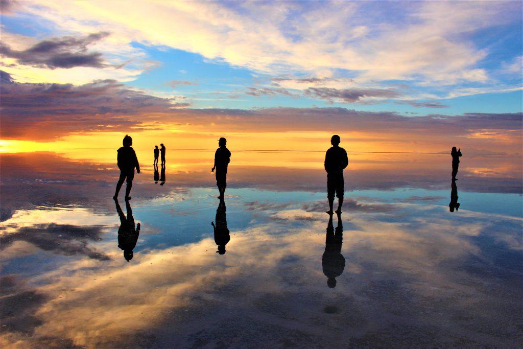 世界の絶景サンセットボリビアウユニ塩湖