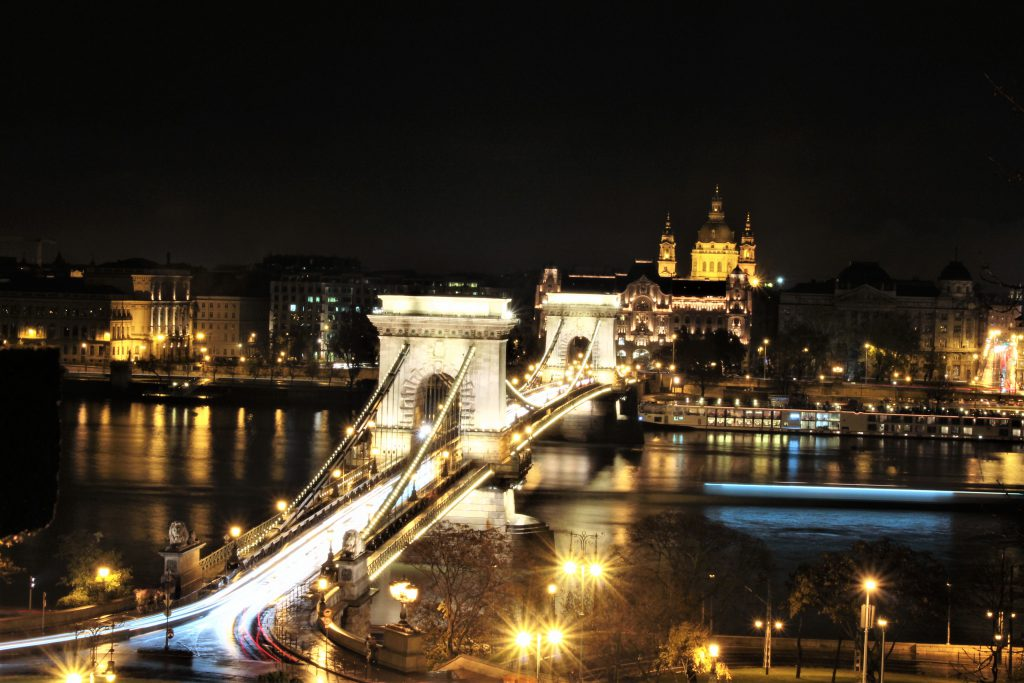 ヨーロッパ旅行東欧ルーマニアブダペストの綺麗な夜景