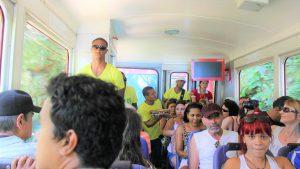 ブラジル リオデジャネイロ観光 キリスト像行きのバス