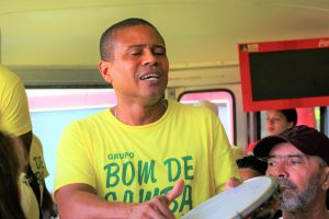 世界一周旅行南米ブラジルキリスト像観光スポットバスパフォーマー
