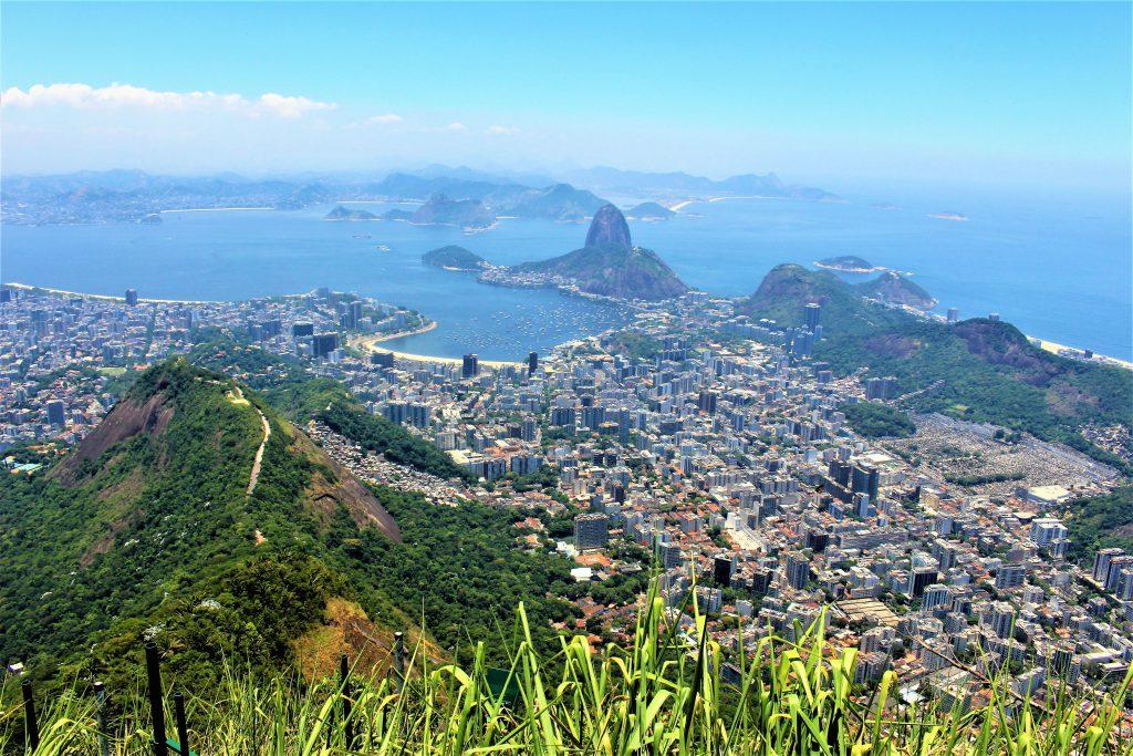世界一周旅行南米ブラジルキリスト像頂上からの眺めは絶景