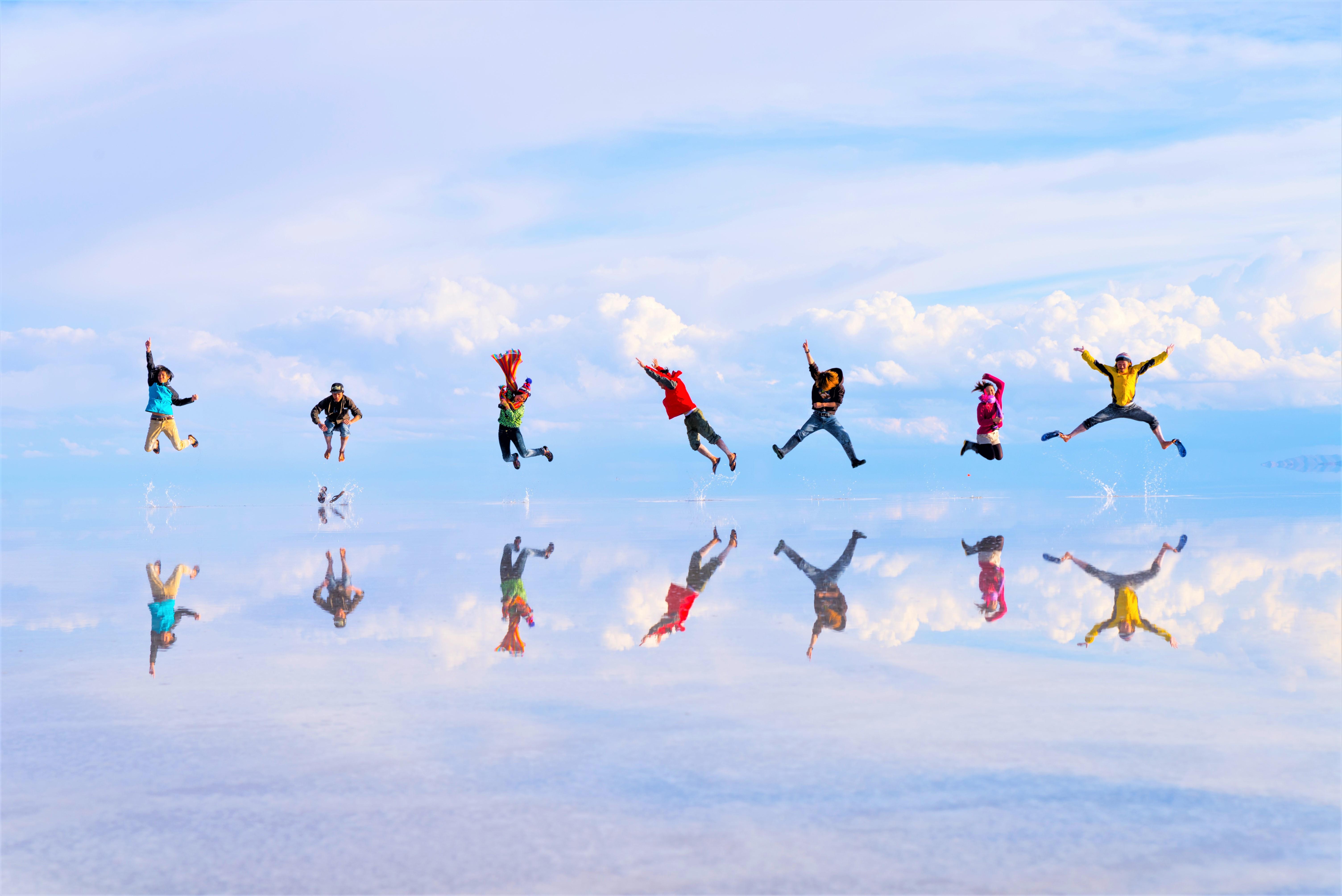 世界一周旅行南米ボリビアウユニ塩湖絶景観スポット