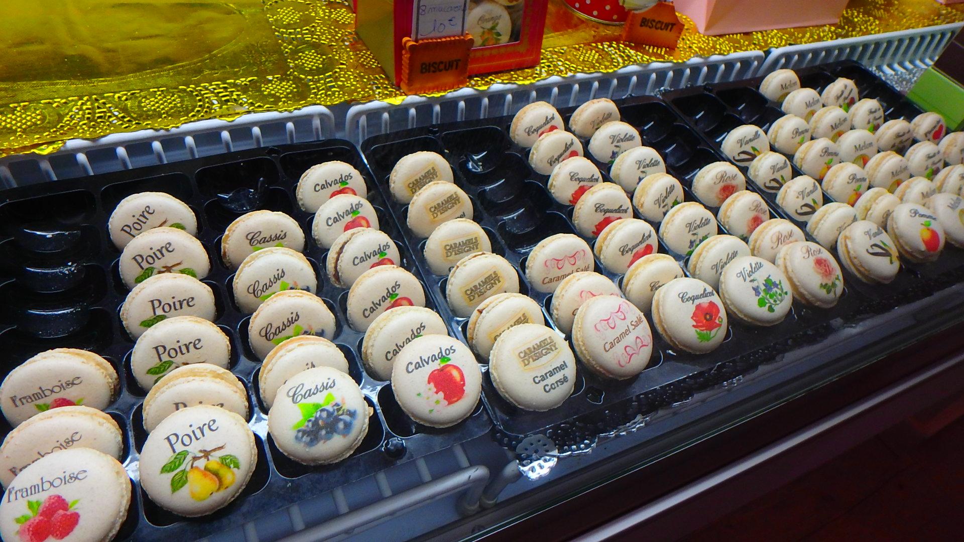 フランスブブロン村美味しいマカロンのお店