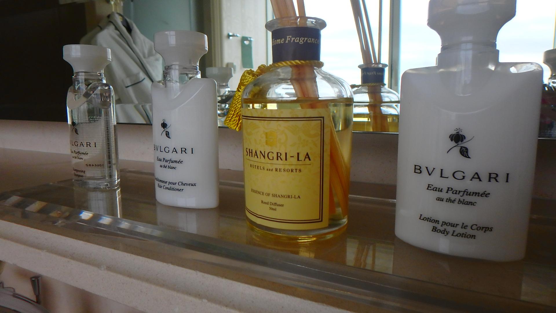 シャングリラホテルパリのアメニティーは全てブルガリ