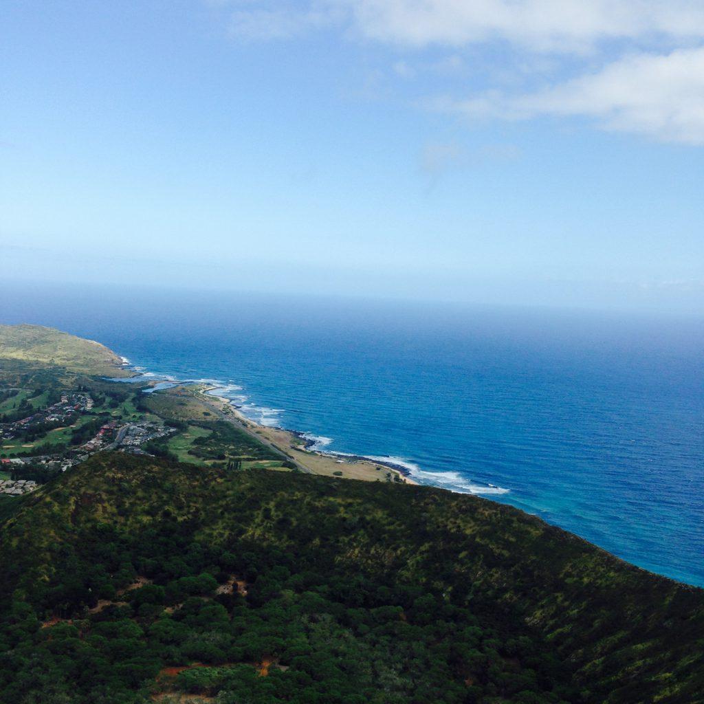 ハワイのおすすめハイキングココヘッド頂上からの眺め