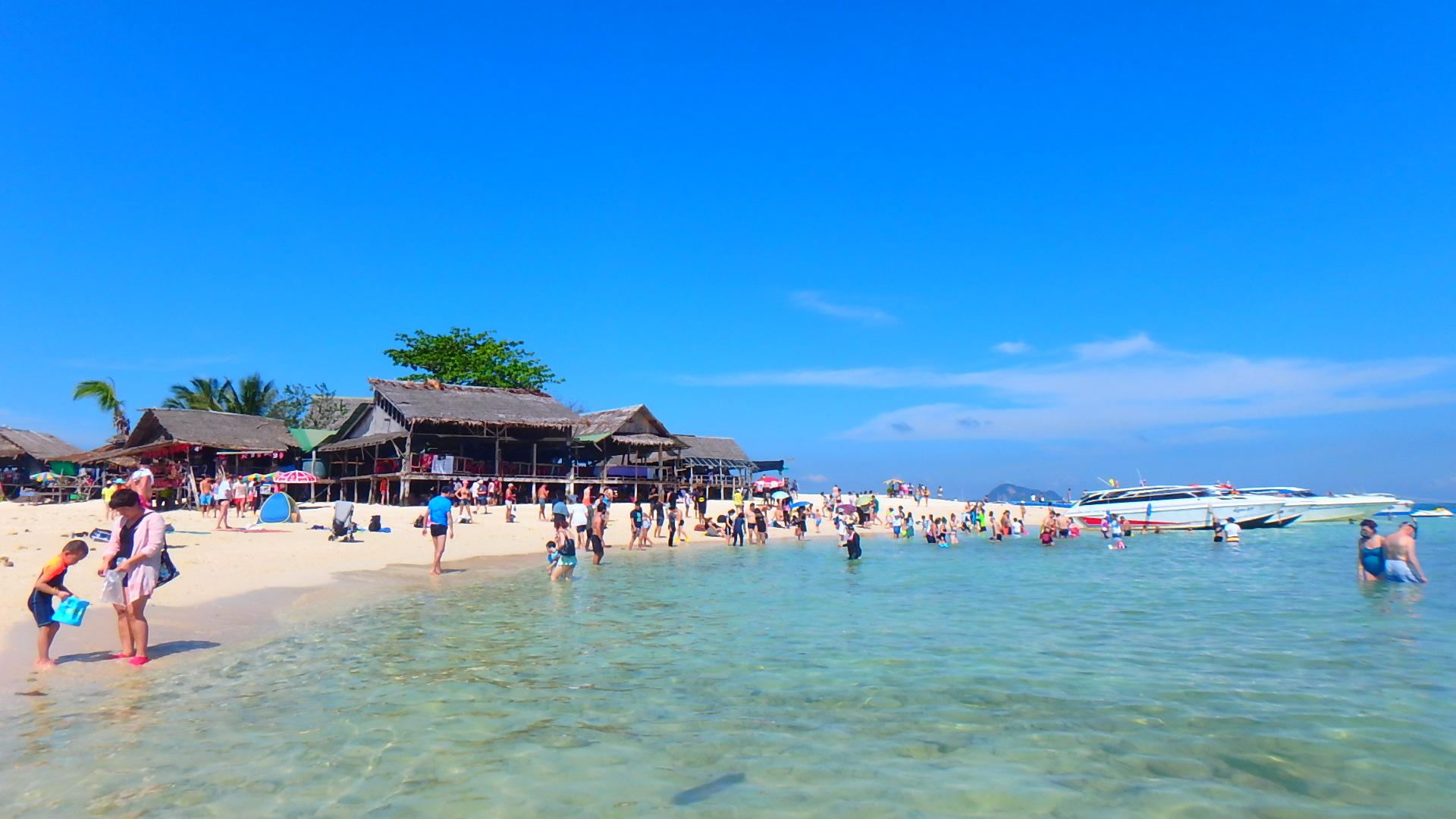 タイプーケットの無人島カイナイ島Khai Nai Islandビーチ