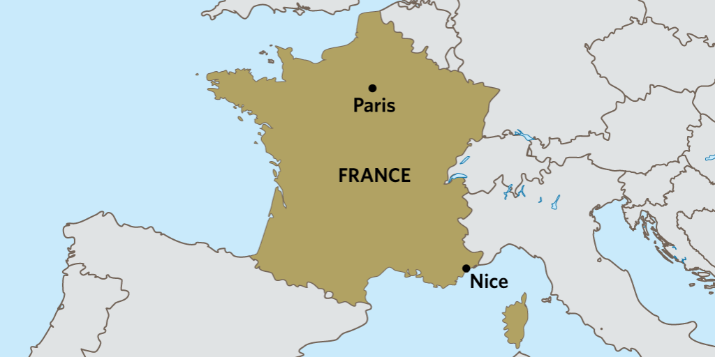 フランスニースってどこ?マップと場所