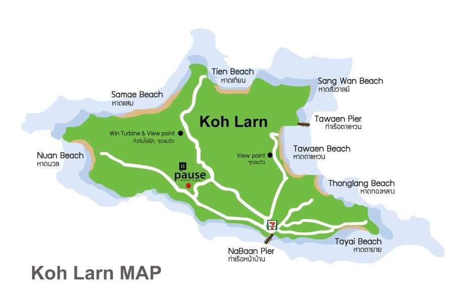 タイラン島のビーチマップ