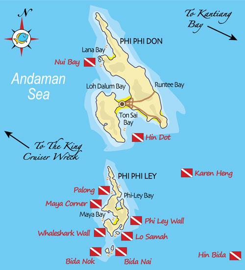 ピピ島マップピピドーン島ピピレイ島