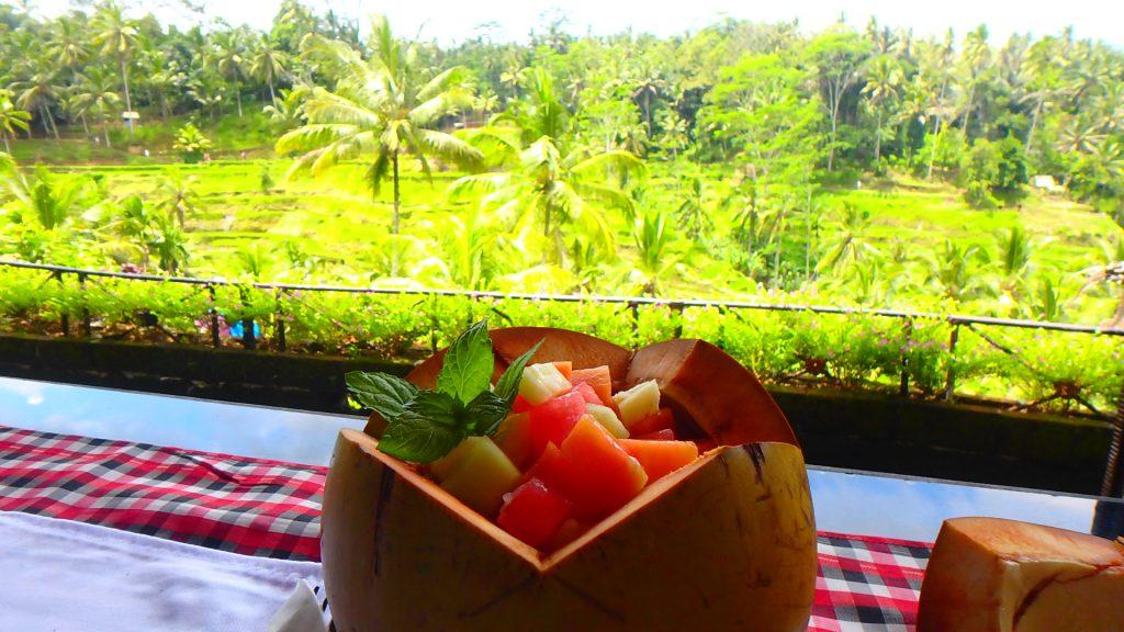 バリ島のライステラスが見える絶景カフェ テラス パディ