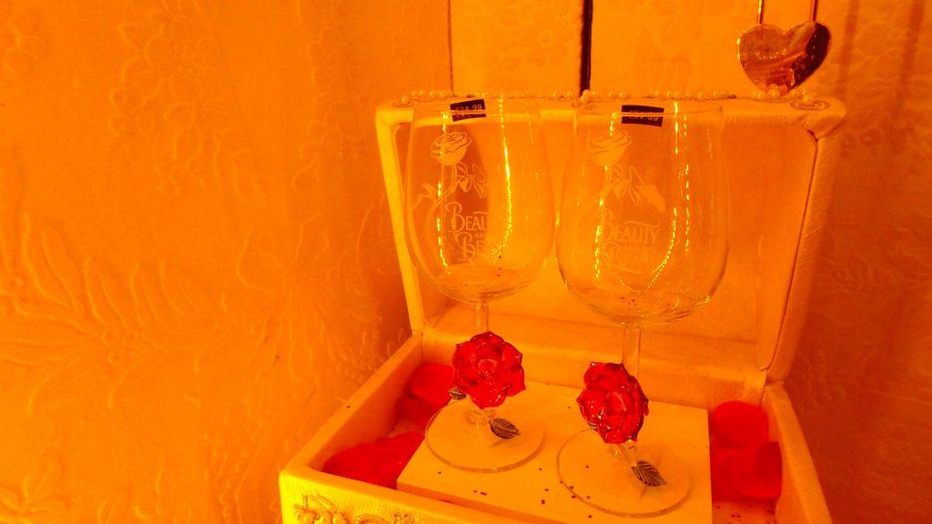 パリ 美女と野獣 ペア ワイングラス