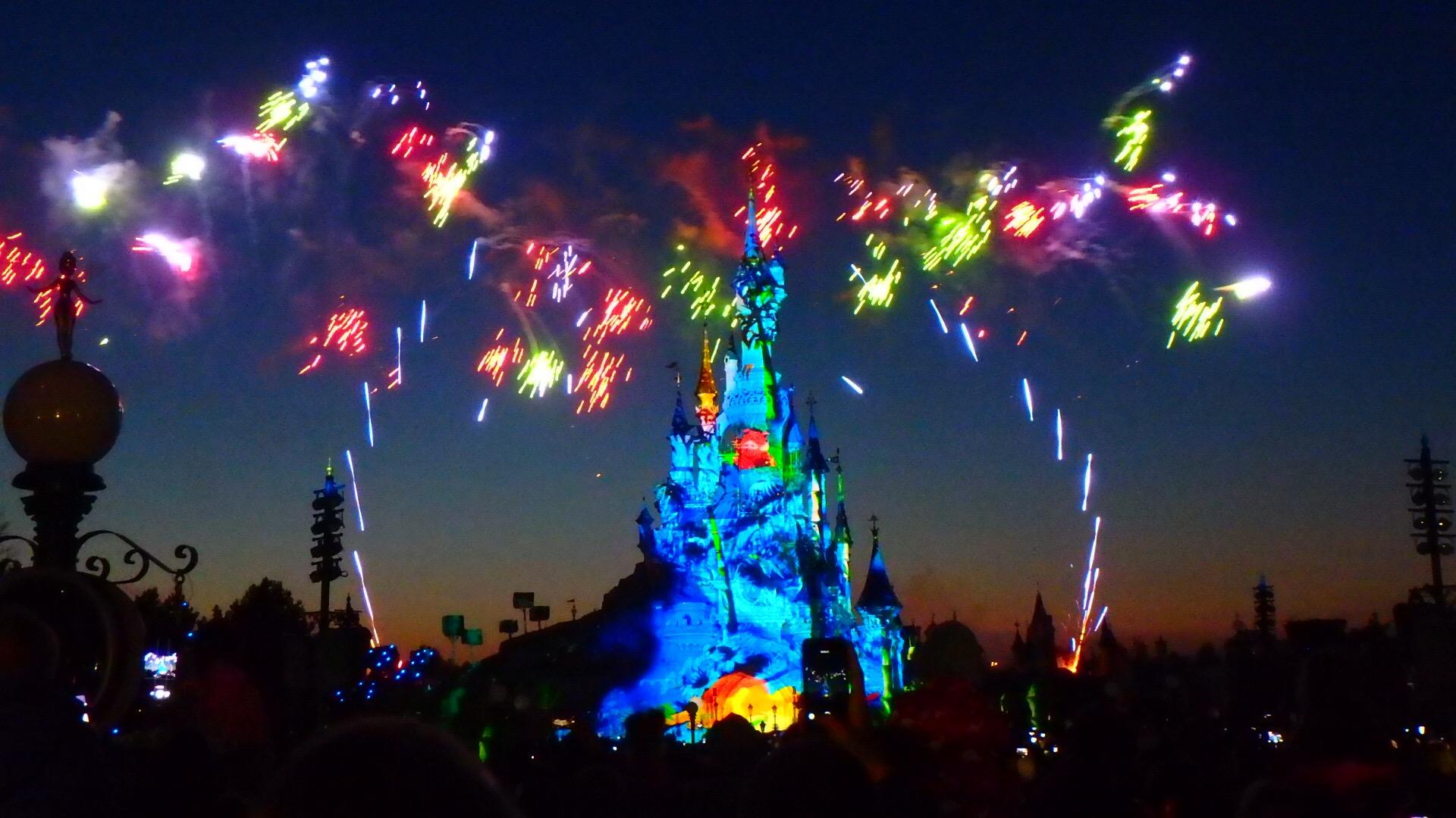 パリのディズニー 夜のショーと花火 おすすめ観覧場所