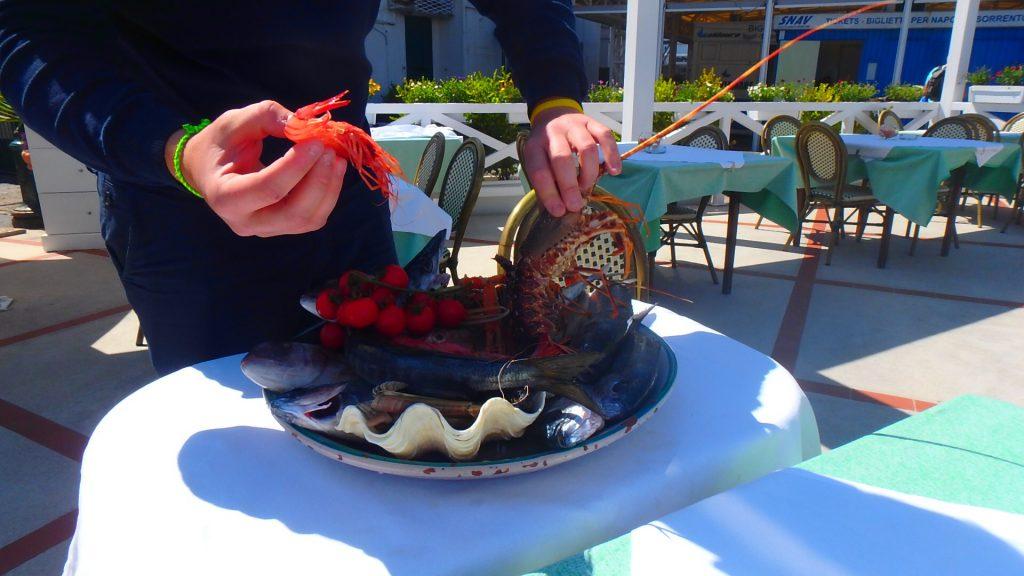 イタリアカプリ島シーフードが美味しいレストラン