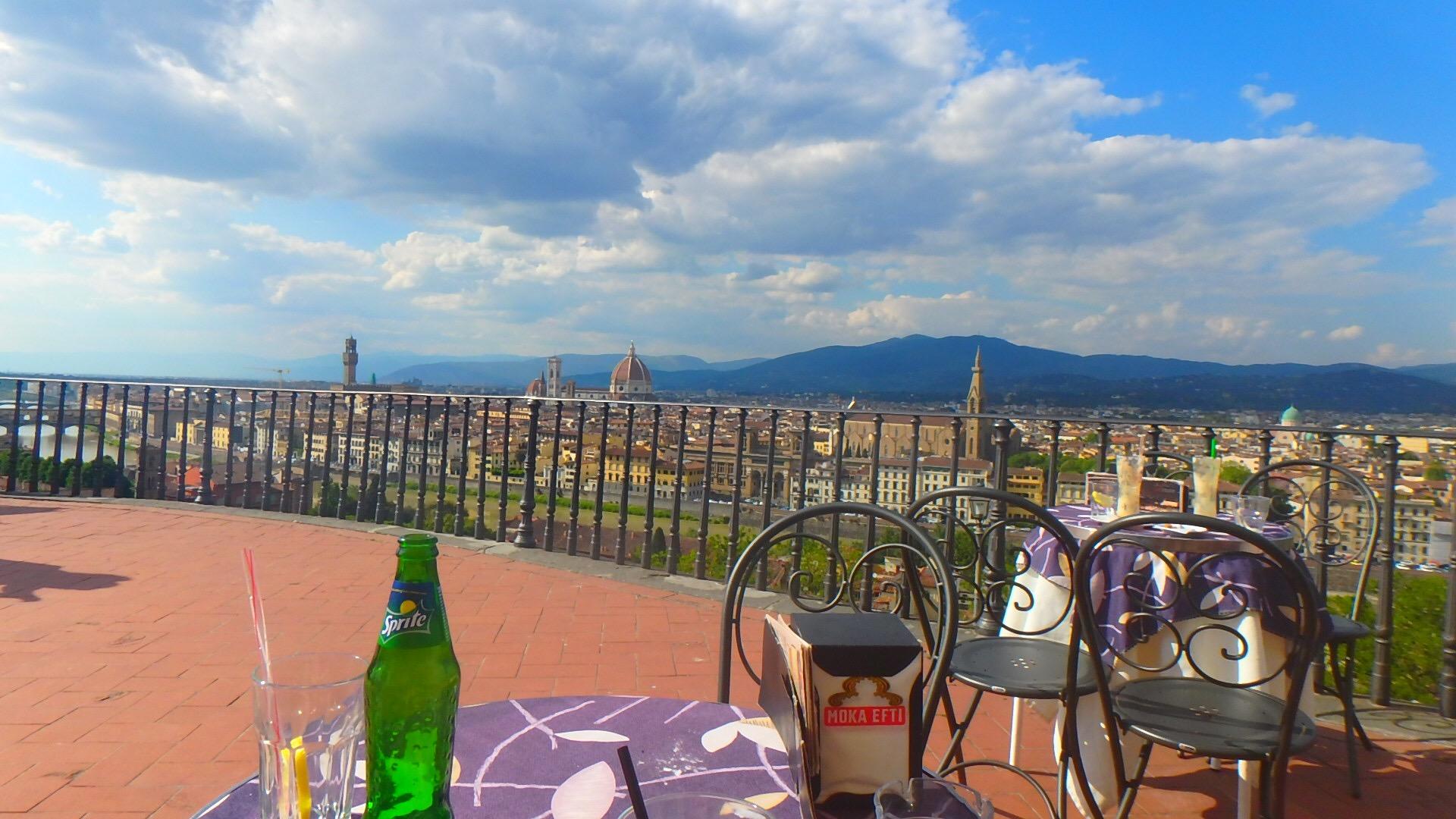 フィレンツェ 絶景テラスのカフェ