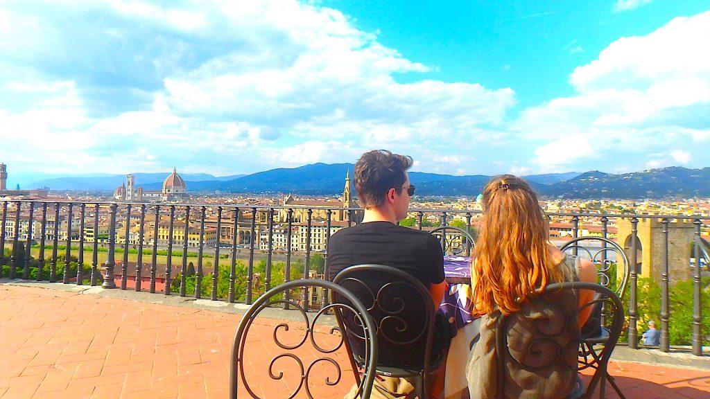 フィレンツェおすすめ観光 ミケランジェロ広場 絶景カフェ