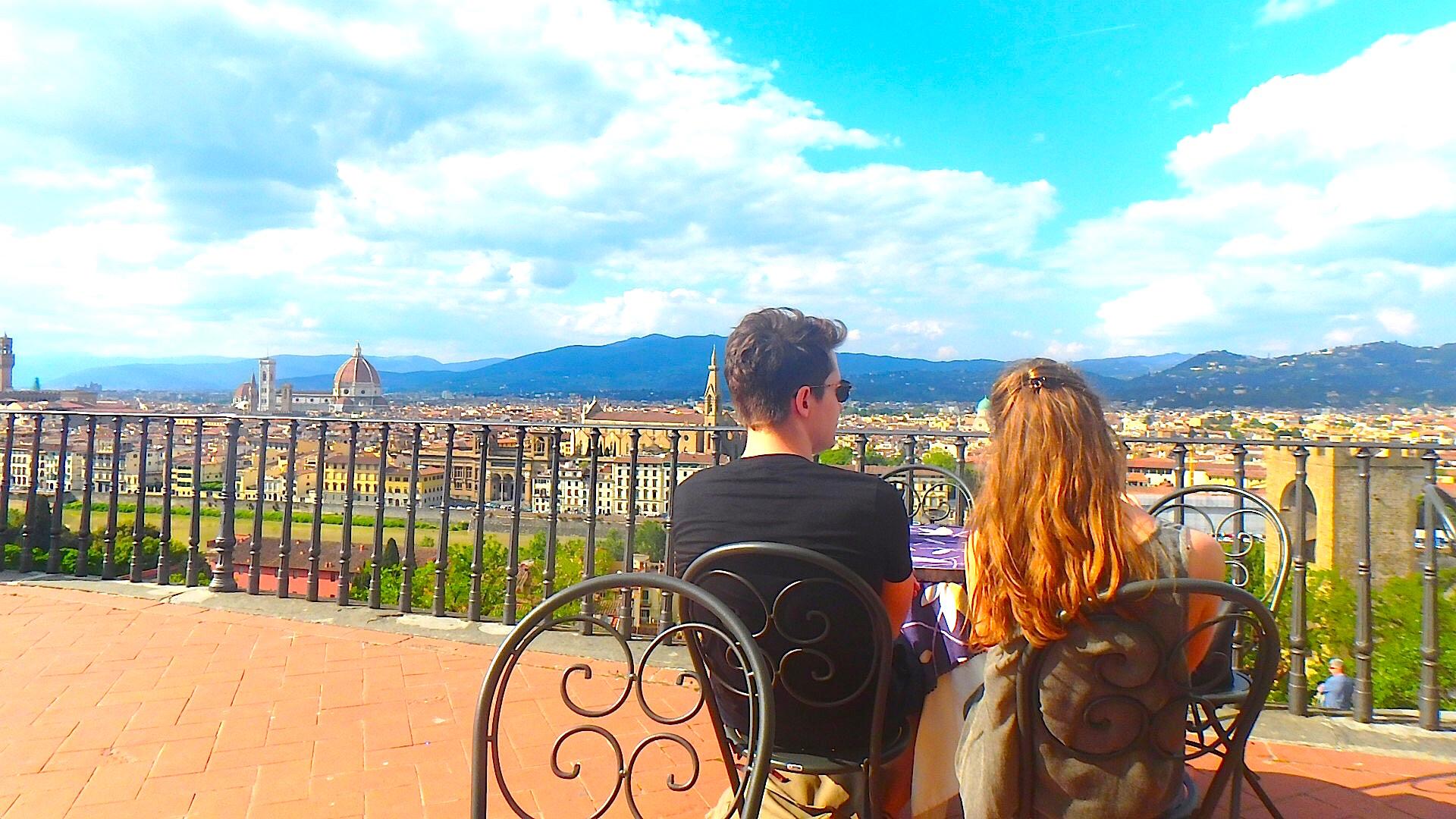フィレンツェ 絶景Bar テラス席