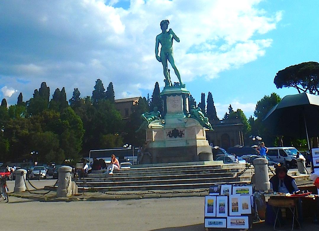 フィレンツェ ミケランジェロ広場のカフェ