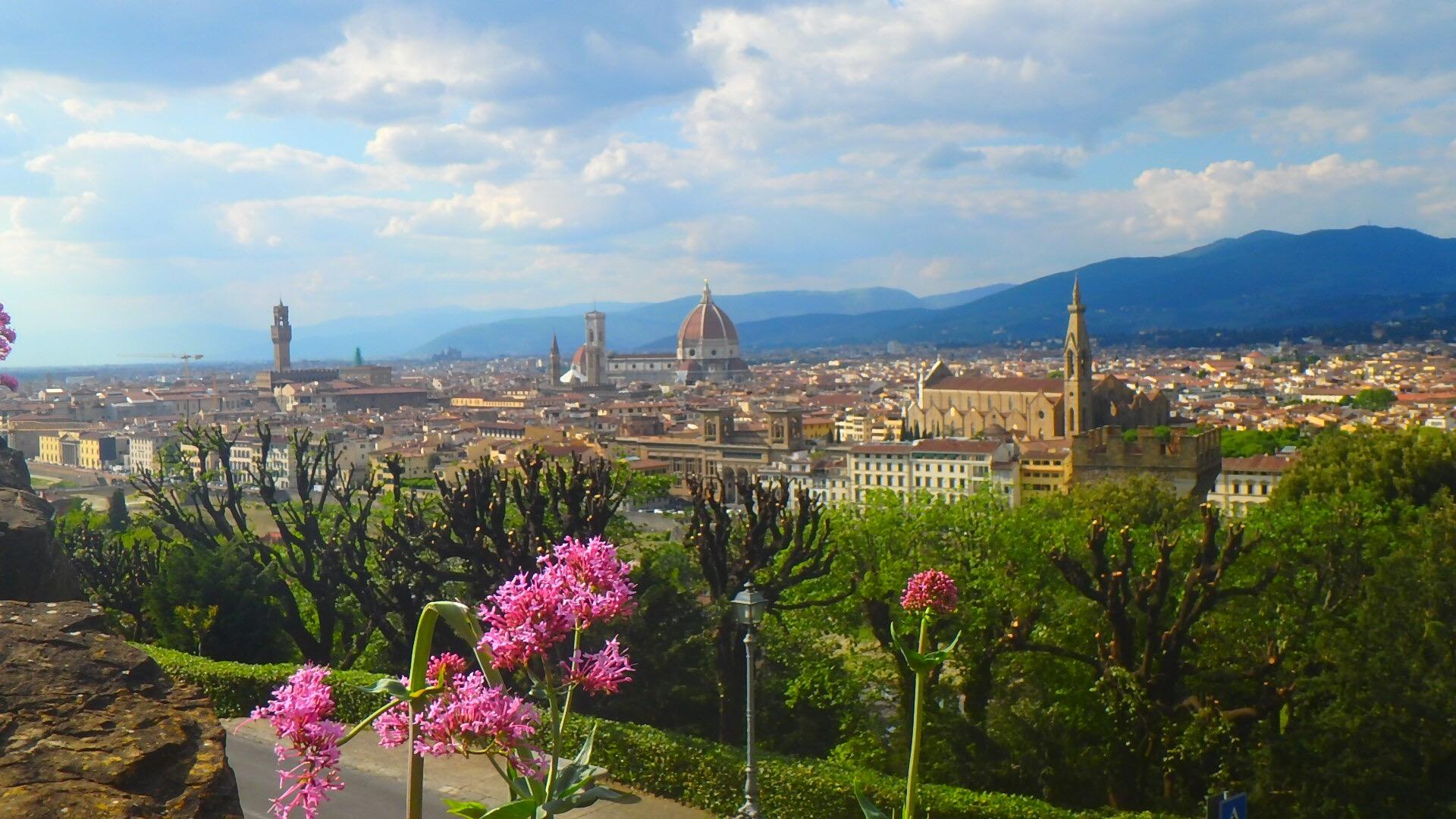 フィレンツェ ミケランジェロ広場 高台の絶景