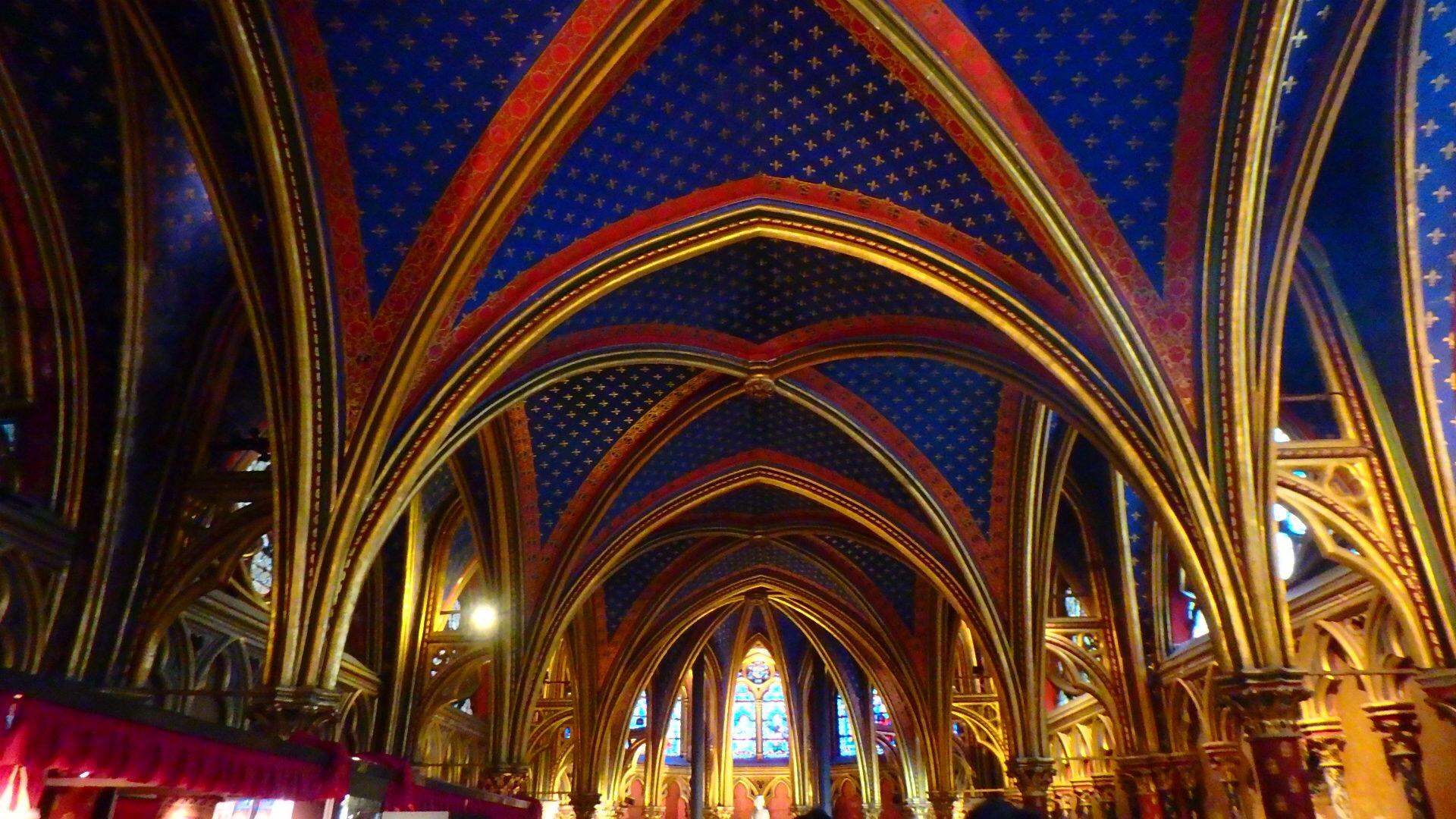 サント・シャペル教会(Sainte Chapelle)ゴシック様式の天井