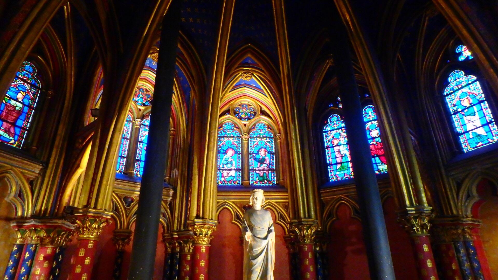 サント・シャペル教会(Sainte Chapelle)ゴシック様式最盛期