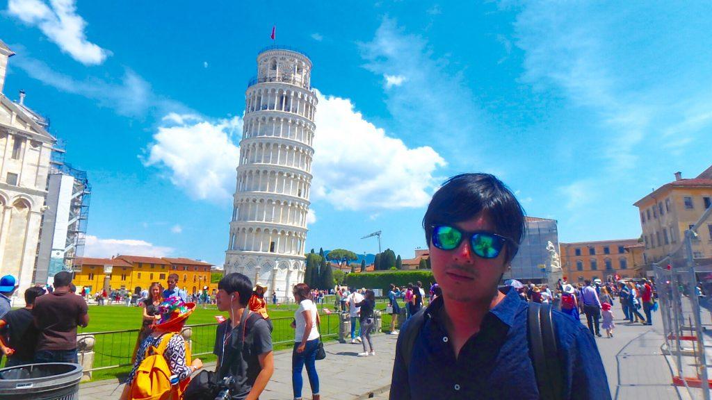 フィレンツェから電車で日帰り旅行 ピサの斜塔