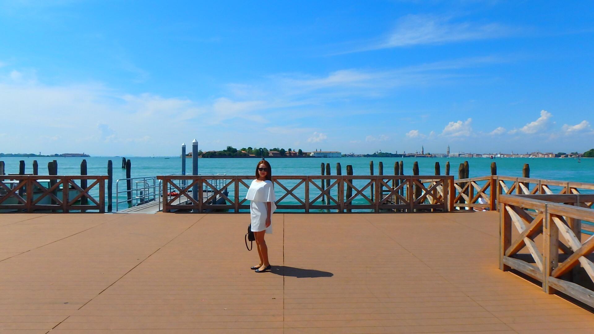 ベネチアの離島リド島は海が綺麗