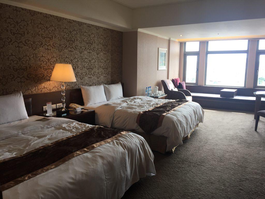 台湾のホテルは安くて広い