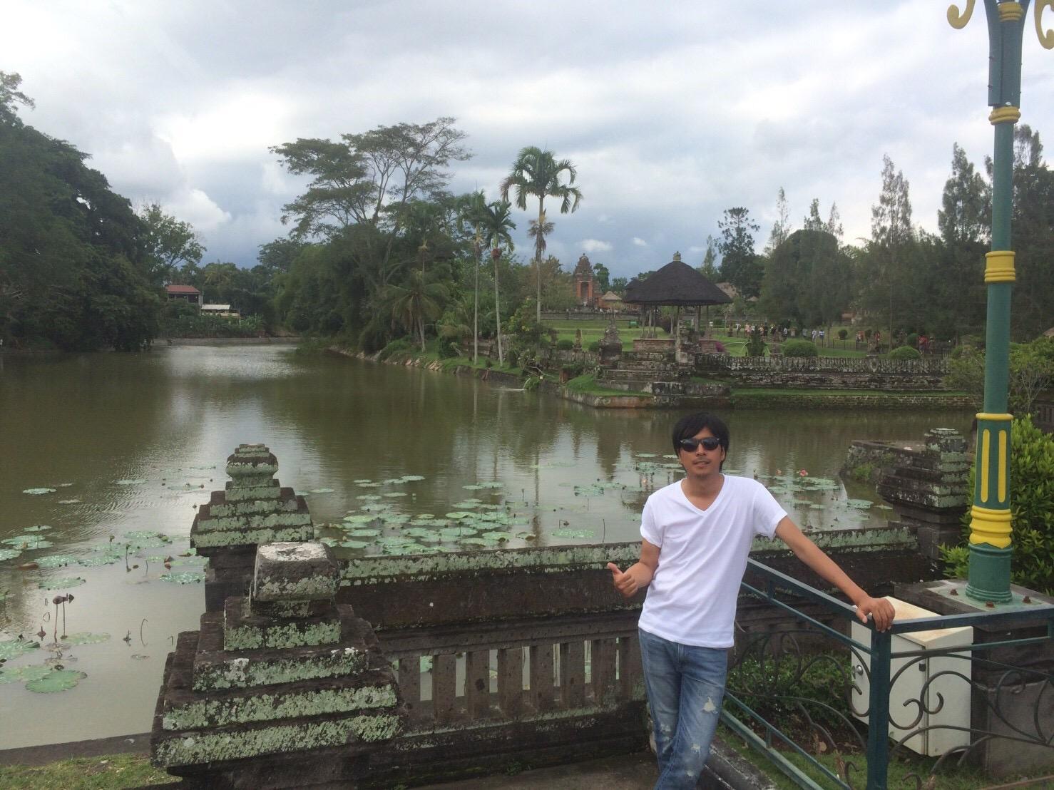 バリ島タマンアユン寺院のお堀