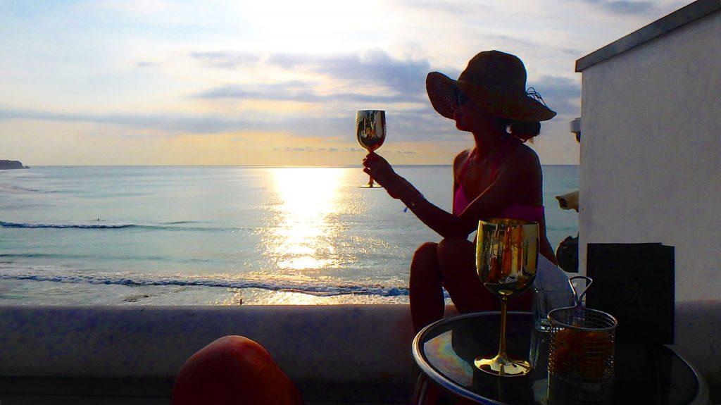 バリ島のサンセットが見えるレストラン