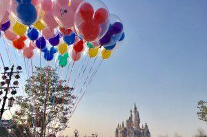 上海ディズニーランドのバルーン風船
