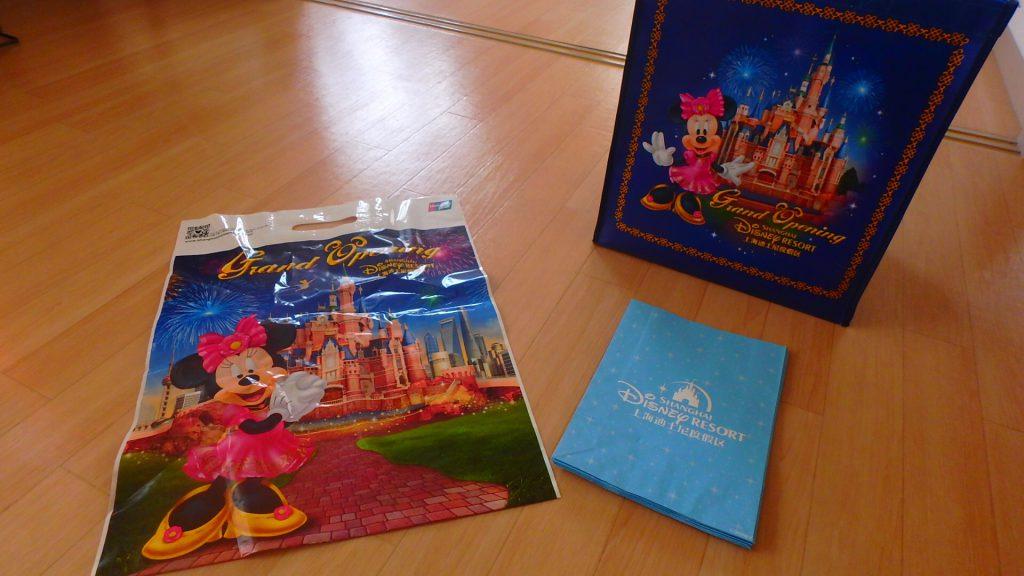 上海ディズニーはショップ袋が有料