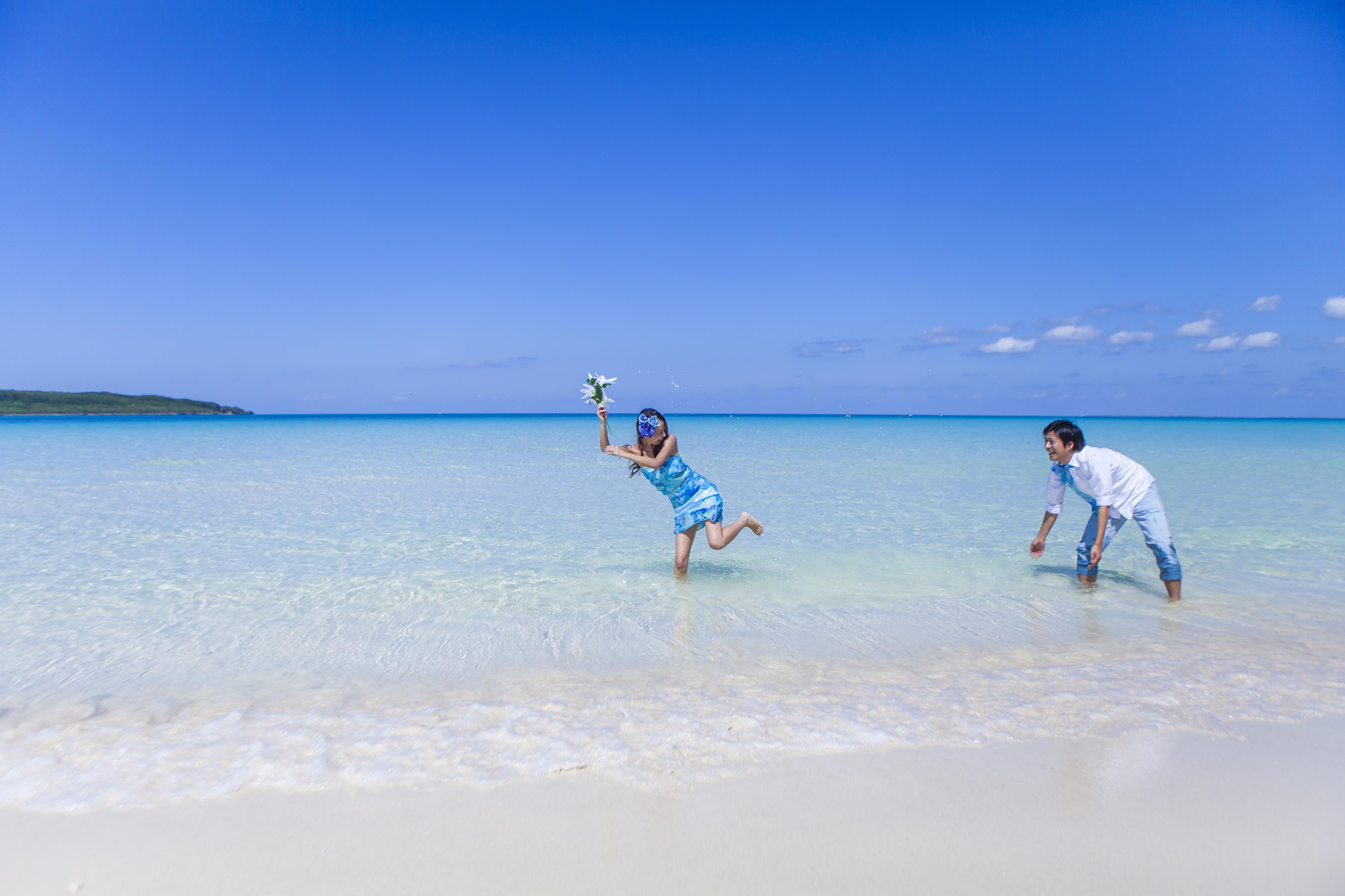 宮古島の海は、綺麗・人がいない・ゴミもない、、そして砂浜が真っ白!