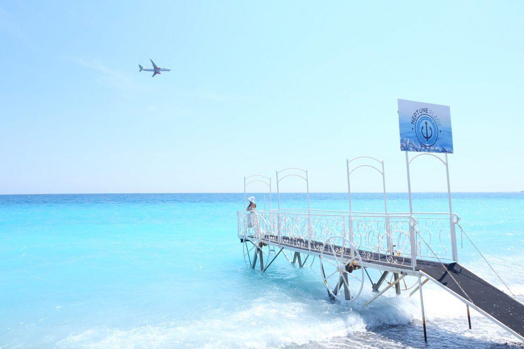 ニースのホテル Negresco(ネグレスコ)のプライベートビーチ
