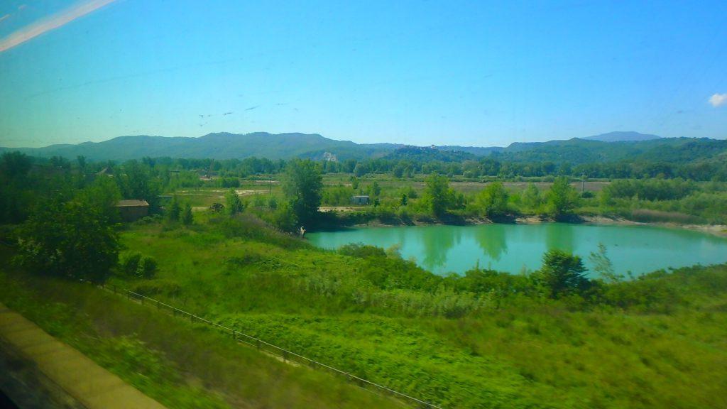 イタリア 電車で周遊旅 電車から見える景色