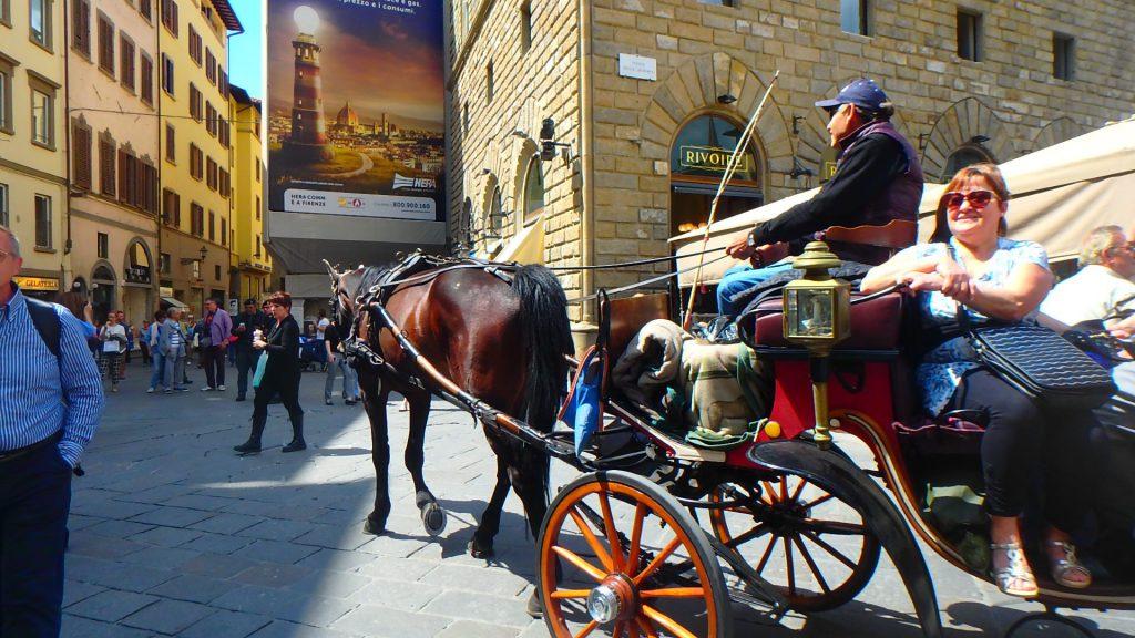 フィレンツェのおすすめ 馬車に乗って観光