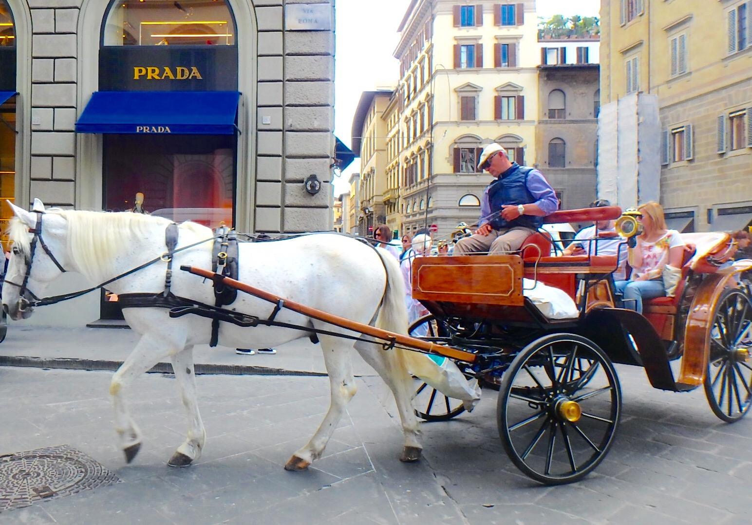 フィレンツェのおすすめ観光 街散策と馬車