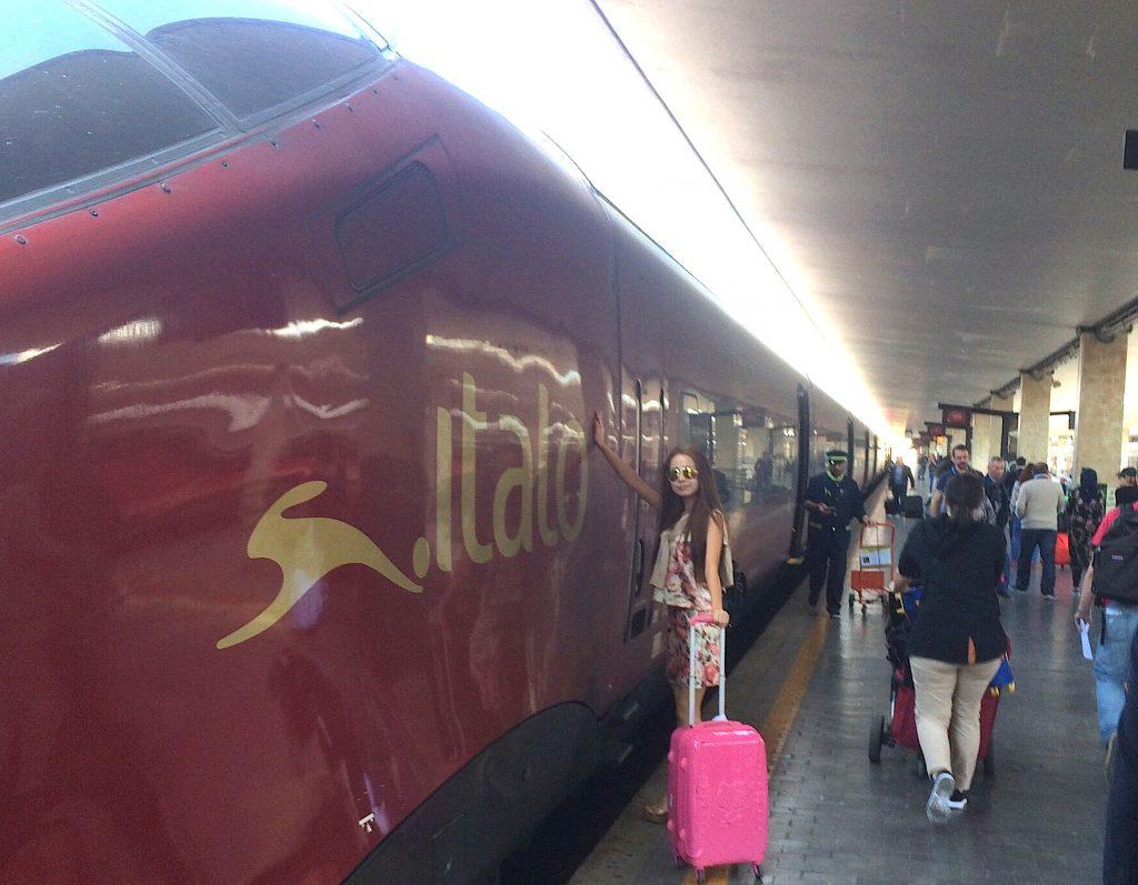 ローマからフィレンツェ 電車の旅 italo イタロ