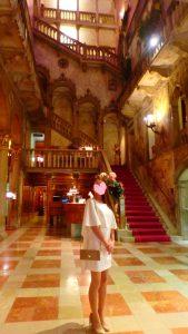 ベネチア五つ星ホテル ダニエリのロビー