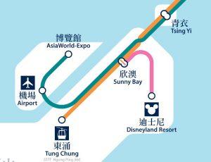 香港ディズニー おすすめの行き方 電車と地下鉄
