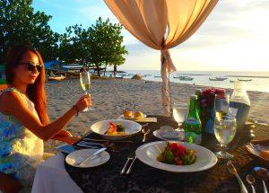女性が喜ぶ バリ島クタビーチ お洒落レストラン