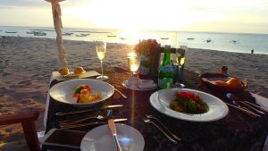 バリ島クタビーチ サンセットとシャンパン