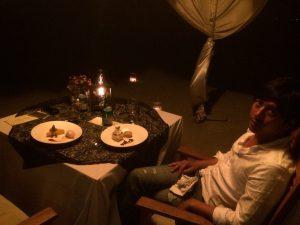 バリ島クタで記念日ディナー カップル旅行