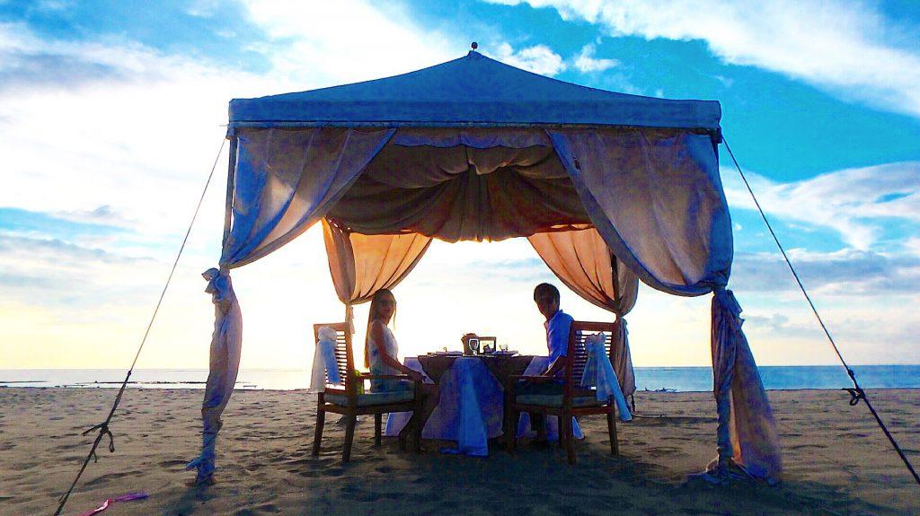 記念日ディナー バリ島クタ 海沿いのお洒落レストラン