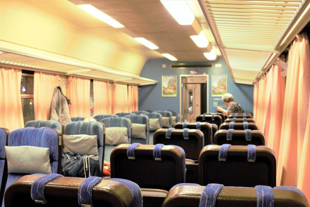 フィンランド ロヴァニエミへ列車移動
