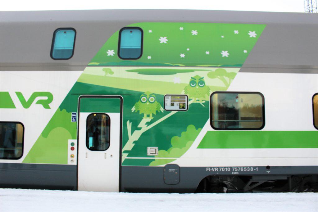 ヘルシンキからロヴァニエミ 行き方 列車