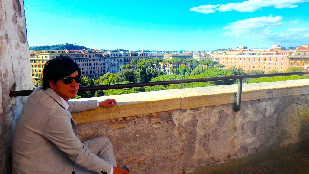 ローマの休日 サンタンジェロ城からの景色