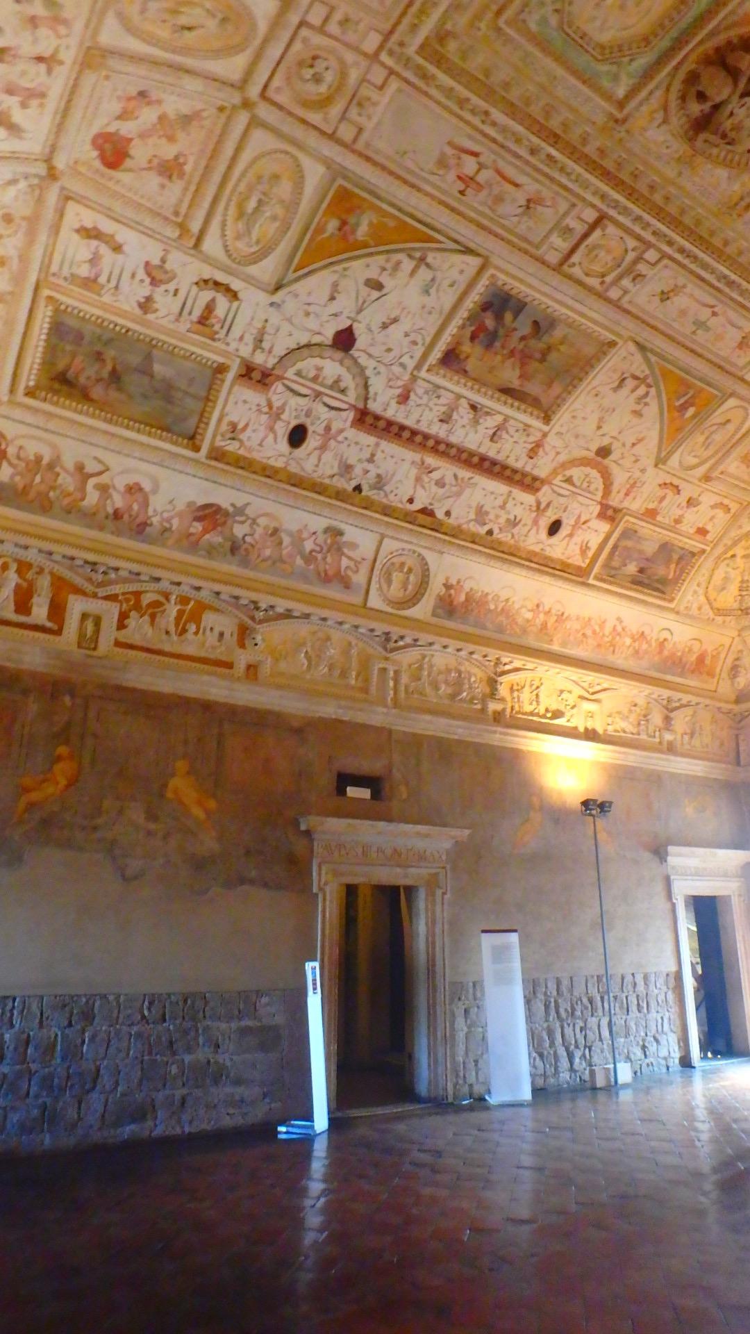 サンタンジェロ城内部の部屋