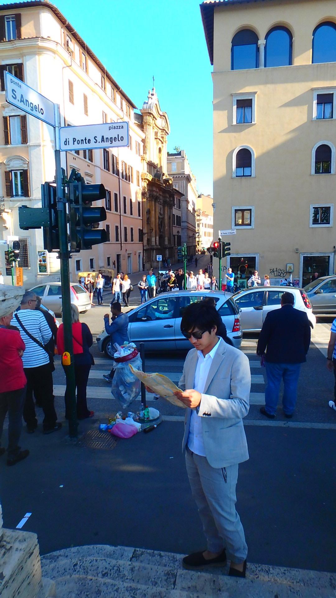 サンタンジェロ城からトレビの泉への行き方