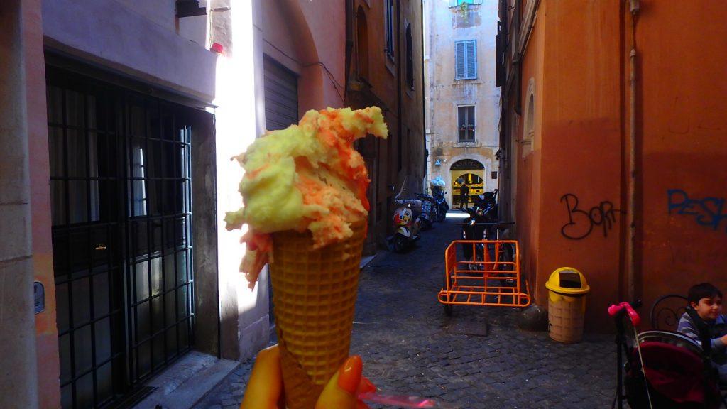 サンタンジェロ城へのアクセス ジェラート